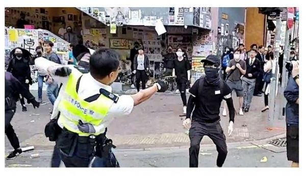 Image result for hk protester shot