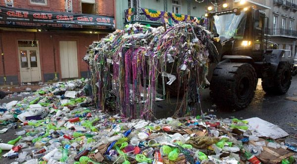 Image result for day after parade trash